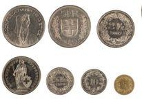 Schweizer Münzen Stockfoto