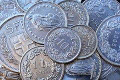 Schweizer Münzen Stockbild