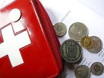 Schweizer Mappengeld in den Franc Stockfotografie