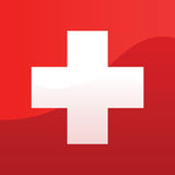Schweizer Markierungsfahne