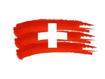 Schweizer Markierungsfahne Lizenzfreie Stockbilder