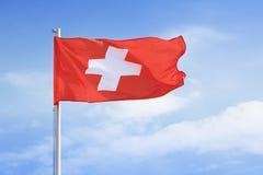 Schweizer Markierungsfahne Lizenzfreie Stockfotos