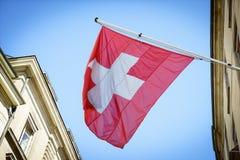 Schweizer Markierungsfahne Stockbilder