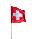 Schweizer Markierungsfahne Lizenzfreies Stockbild