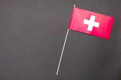 Schweizer Markierungsfahne Stockfotos