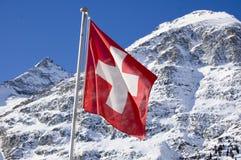 Schweizer Markierungsfahne lizenzfreies stockfoto