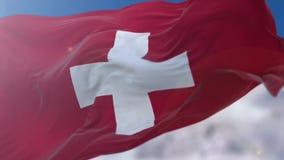 Schweizer Markierungsfahne lizenzfreie abbildung