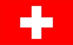 Schweizer Markierungsfahne Stockfoto