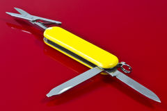 Schweizer Messer Stockfoto