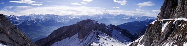 Schweizer moutain Panorama Lizenzfreies Stockbild