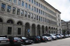 Schweizer Nationalbank en ricos del ¼ de ZÃ National Bank suizo en el ¼ de ZÃ ric foto de archivo libre de regalías