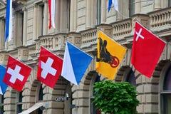Schweizer Nationaltag in Zürich Stockfotos