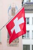 Schweizer Nationaltag in Zürich Stockbilder