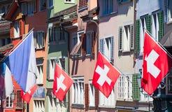 Schweizer Nationaltag in Zürich Stockbild
