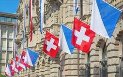 Schweizer Nationaltag in Zürich Lizenzfreie Stockfotografie