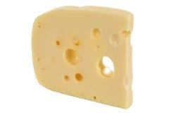 Schweizer oder holländischer Käse mit Löchern Lizenzfreie Stockfotos
