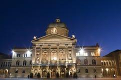 Schweizer Parlament in Bern Stockbilder