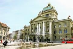 Schweizer Parlamentsgebäude in Bern, die Schweiz Stockfotografie