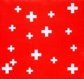 Schweizer Querhintergrund Lizenzfreie Stockfotos