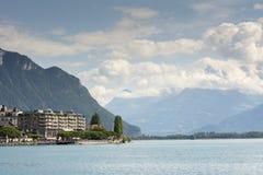 Schweizer Riviera nahe Montreux lizenzfreies stockbild