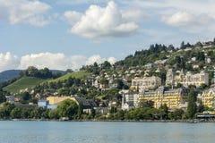 Schweizer Riviera nahe Montreux stockbilder