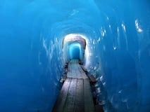 Schweizer Schönheit, unter Rhône-Gletscher stockbild