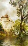 Schweizer Schloss Stockbild