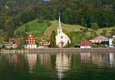 Schweizer Seeansicht lizenzfreie stockfotografie