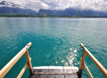 Schweizer Seelandschaft Stockfotografie