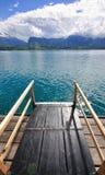 Schweizer Seelandschaft Lizenzfreies Stockfoto
