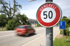 Schweizer Stadtbegrenzungen Lizenzfreies Stockbild