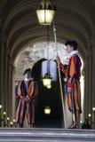 Schweizerabdeckung in der Vatikanstadt Stockbild