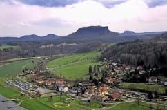 Schweizersachsen-Landschaft Lizenzfreie Stockbilder