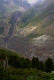 Schweizisk alpin dal, Jungfrau-Aletsch, geologimosaik Royaltyfria Foton