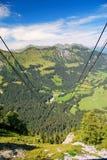 Schweizisk Alpsliggande Fotografering för Bildbyråer