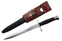 Schweizisk armédolk, militär bajonettkniv, antikvitet Fotografering för Bildbyråer
