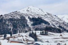 Schweizisk bergvinter Arkivbilder