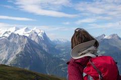 Schweizisk fotvandrare Arkivfoto