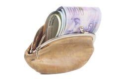Schweizisk franc i plånbok Royaltyfri Foto