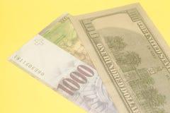 Schweizisk franc- och amerikandollar Royaltyfria Foton