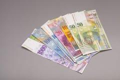Schweizisk franc valuta av Schweiz royaltyfria bilder
