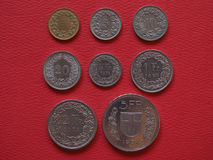 Schweizisk francmynt, Schweiz Arkivbilder