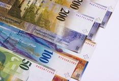 Schweizisk francpengar som isoleras på vit bakgrund royaltyfri fotografi