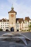 Schweizisk gammal stadfasad Royaltyfri Foto