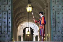 Schweizisk guardsman Royaltyfri Fotografi