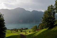 Schweizisk järnväg Arkivfoto