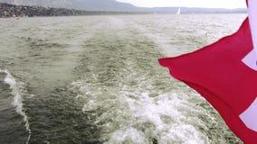 Schweizisk kryssare, schweizareflagga lager videofilmer