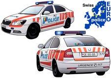 Schweizisk polisbil Royaltyfria Bilder