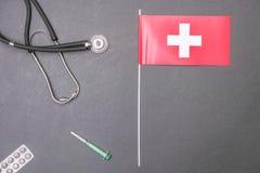 Schweizisk sjukvård Arkivbilder