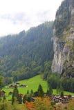 schweizisk town arkivbild